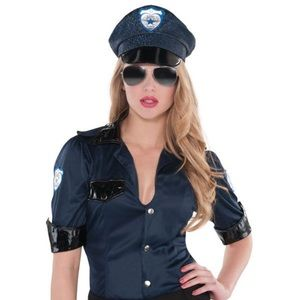Party City Cop Shirt and Hat